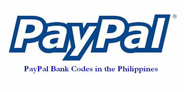 PayPal bank codes in the Philippines