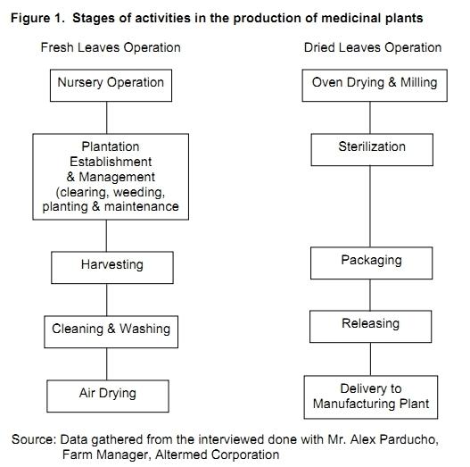 processing of medicinal plants