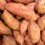 Protein-enriched aquaculture feed from sweet potato push