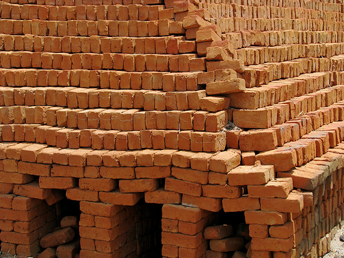 clay bricks photo