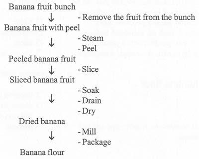 Figure 2 Flow Chart of Banana Flour Processing