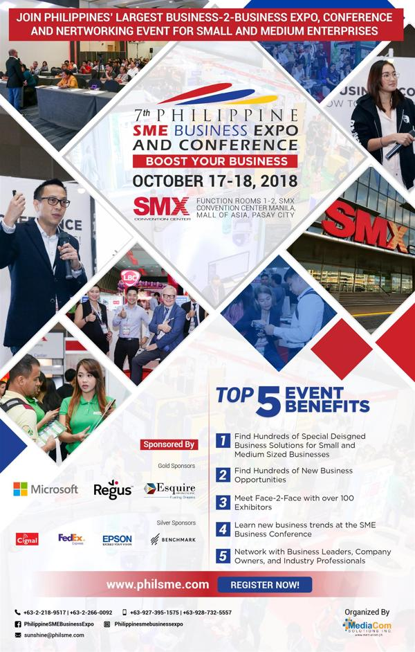 7th Philippine SME Business Expo and Conference to launch on October 17, 2018 1